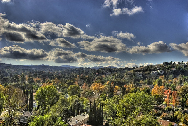 This photo shows a vista in Topanga Canyon, California